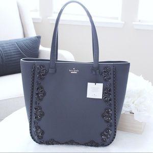Kate Spade Navy Blue Jeweled Bag NWT